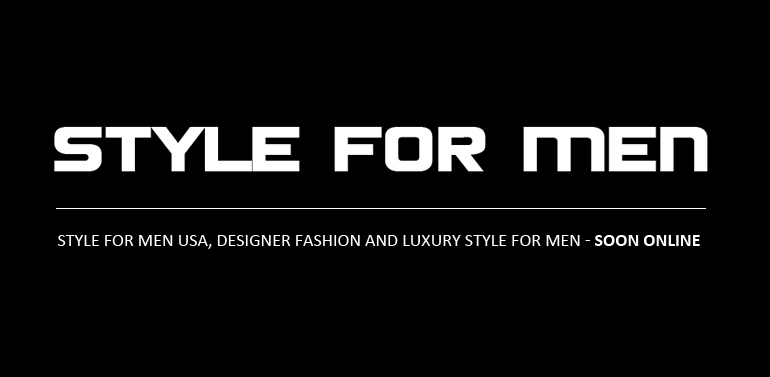 Designer fashion and luxury style for men.